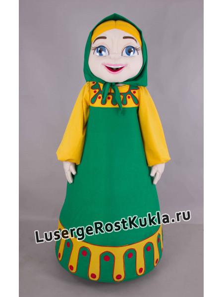 """Ростовая кукла """"Девушка народная в платке"""""""