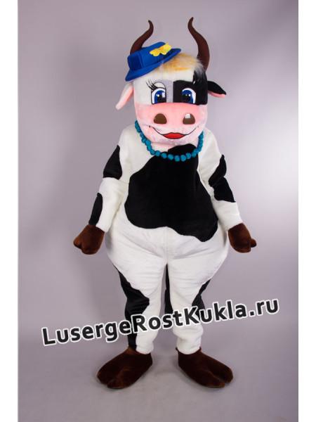 """Ростовая кукла """"Корова в синей шляпке"""""""