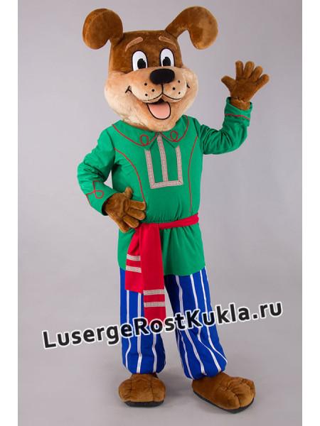 """Ростовая кукла """"Собака Ириска в зеленом"""""""